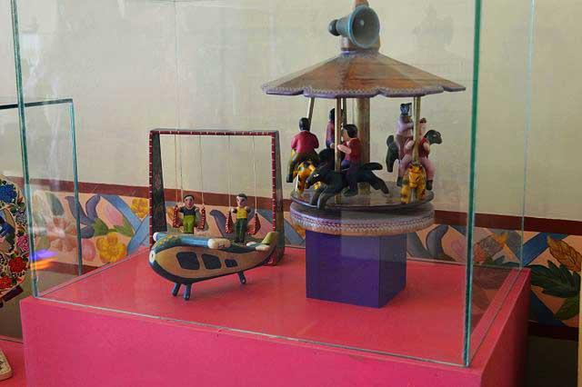 Carrusel en el museo del juguete mexicano
